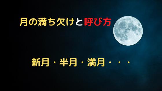 月の満ち欠けと呼び方